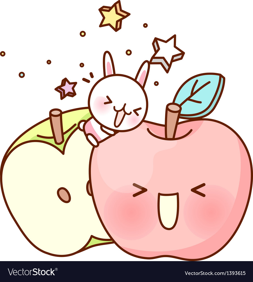 A pair of apple vector | Price: 1 Credit (USD $1)