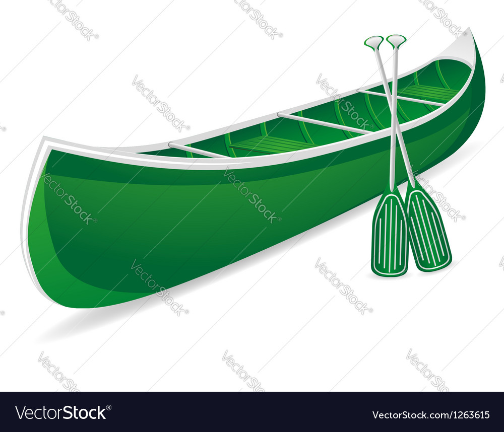 Canoe 02 vector | Price: 1 Credit (USD $1)