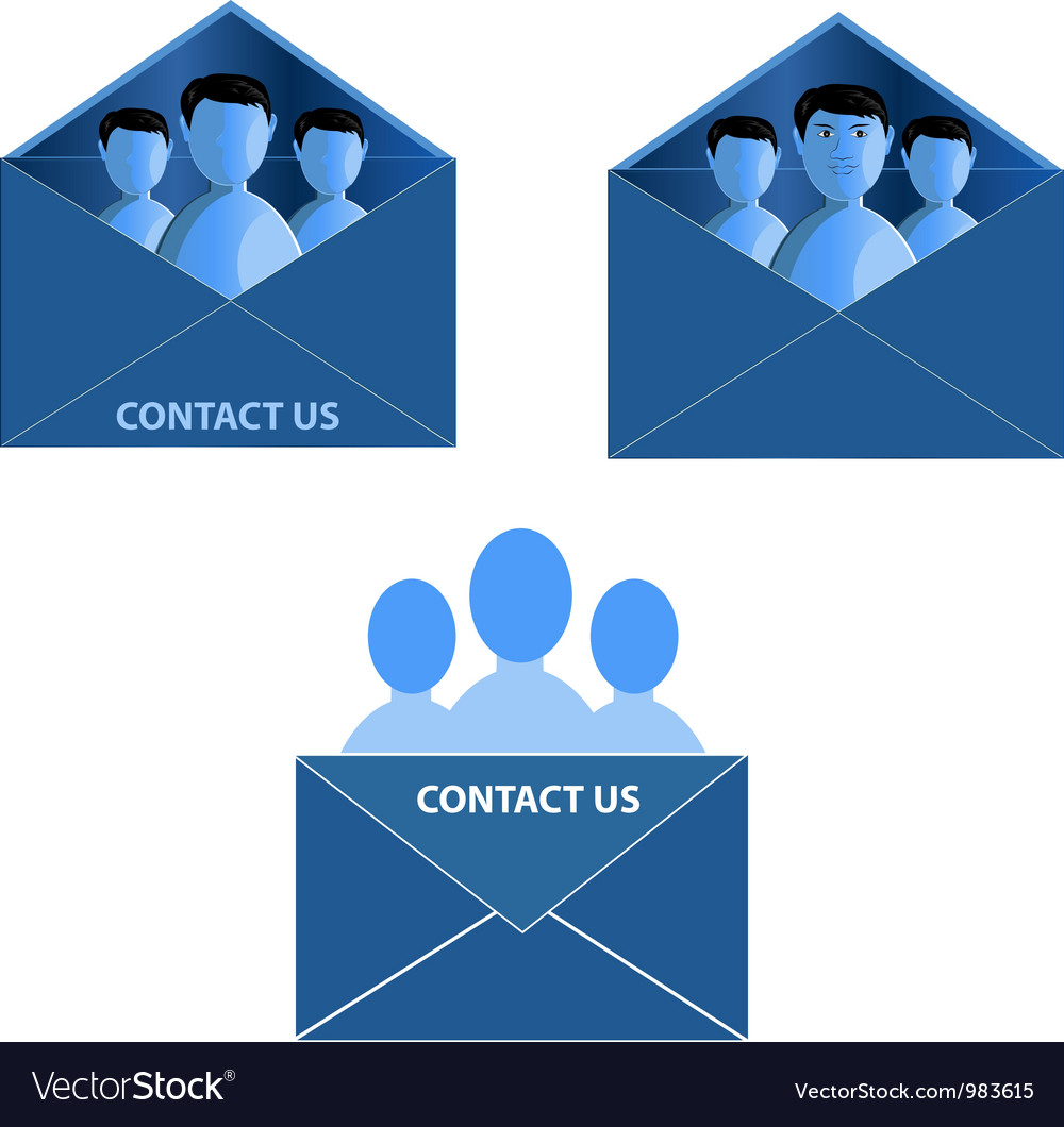 Contact icon vector | Price: 1 Credit (USD $1)