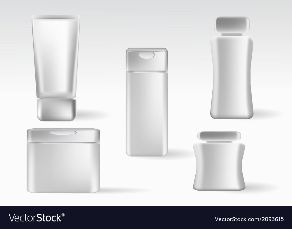 Cosmetics containers packaging vector | Price: 1 Credit (USD $1)