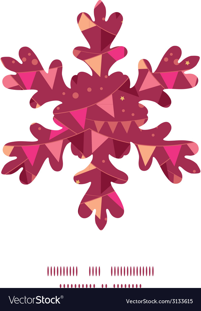 Decorations flags christmas snowflake silhouette vector | Price: 1 Credit (USD $1)