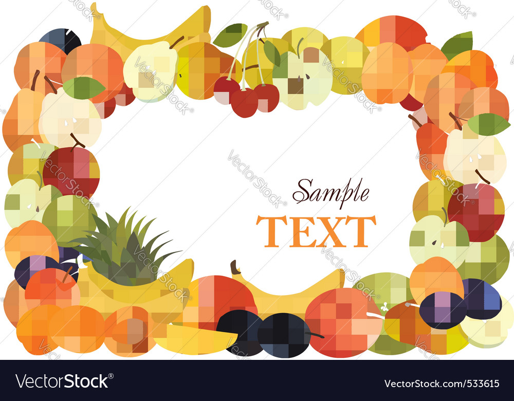 Fruit design background vecto vector | Price: 3 Credit (USD $3)