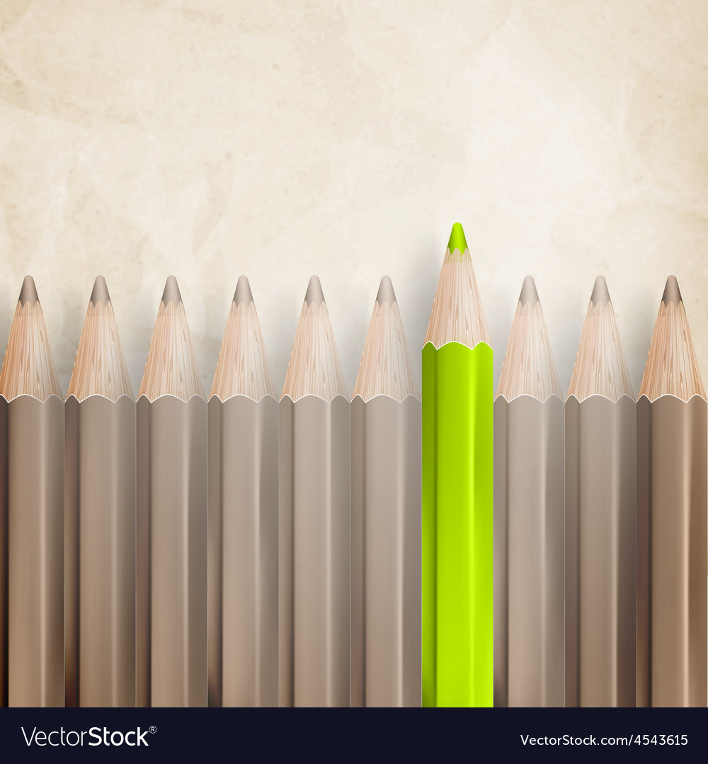 Pencils with tips facing eps 10 vector | Price: 3 Credit (USD $3)