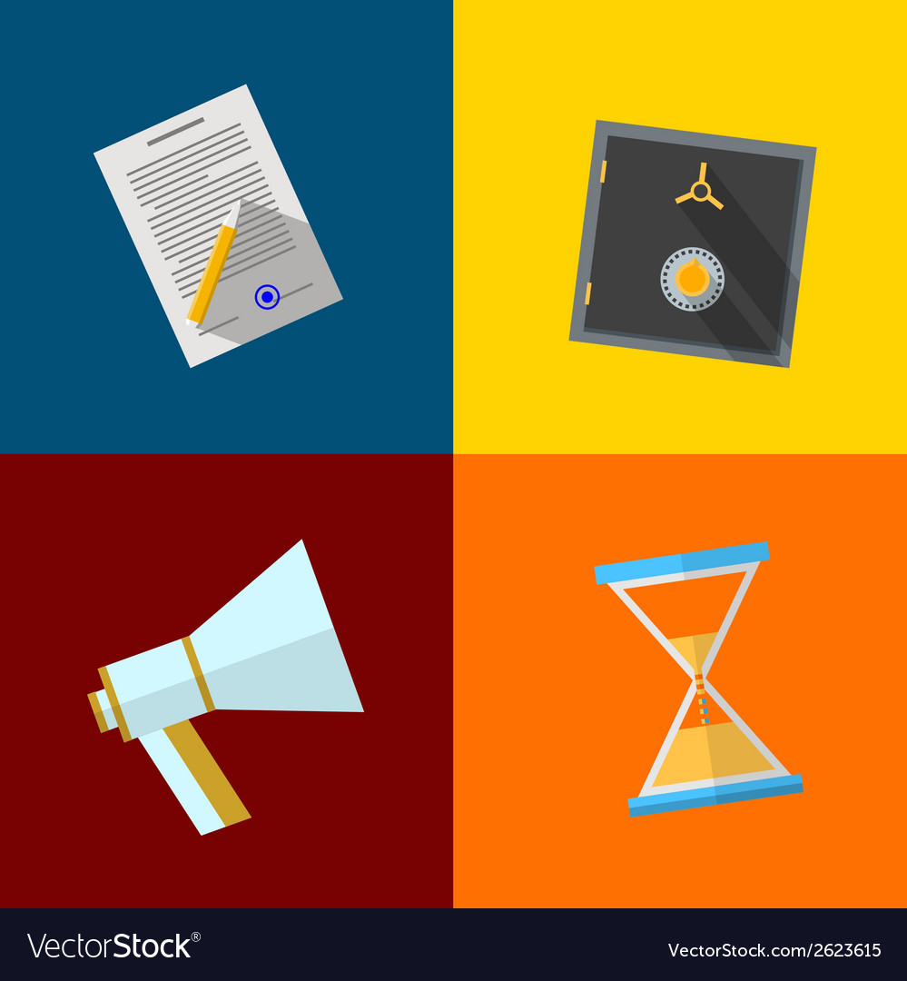 Square icons for outsource vector | Price: 1 Credit (USD $1)
