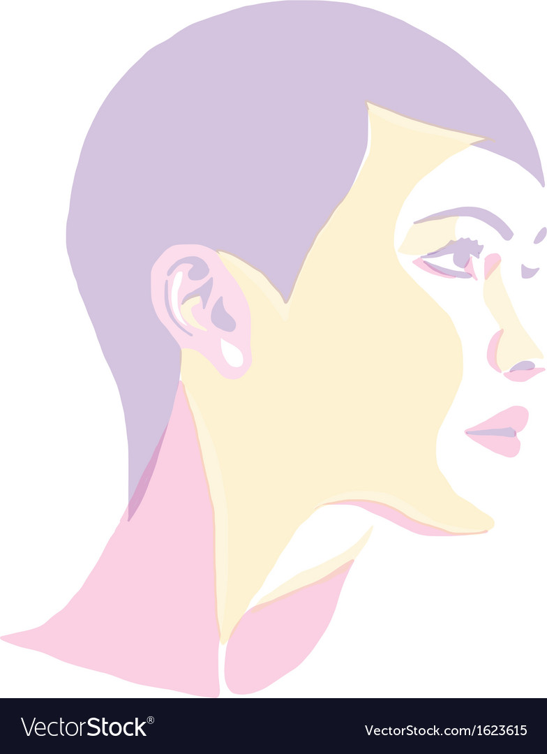 Women portrait - pop art vector | Price: 1 Credit (USD $1)