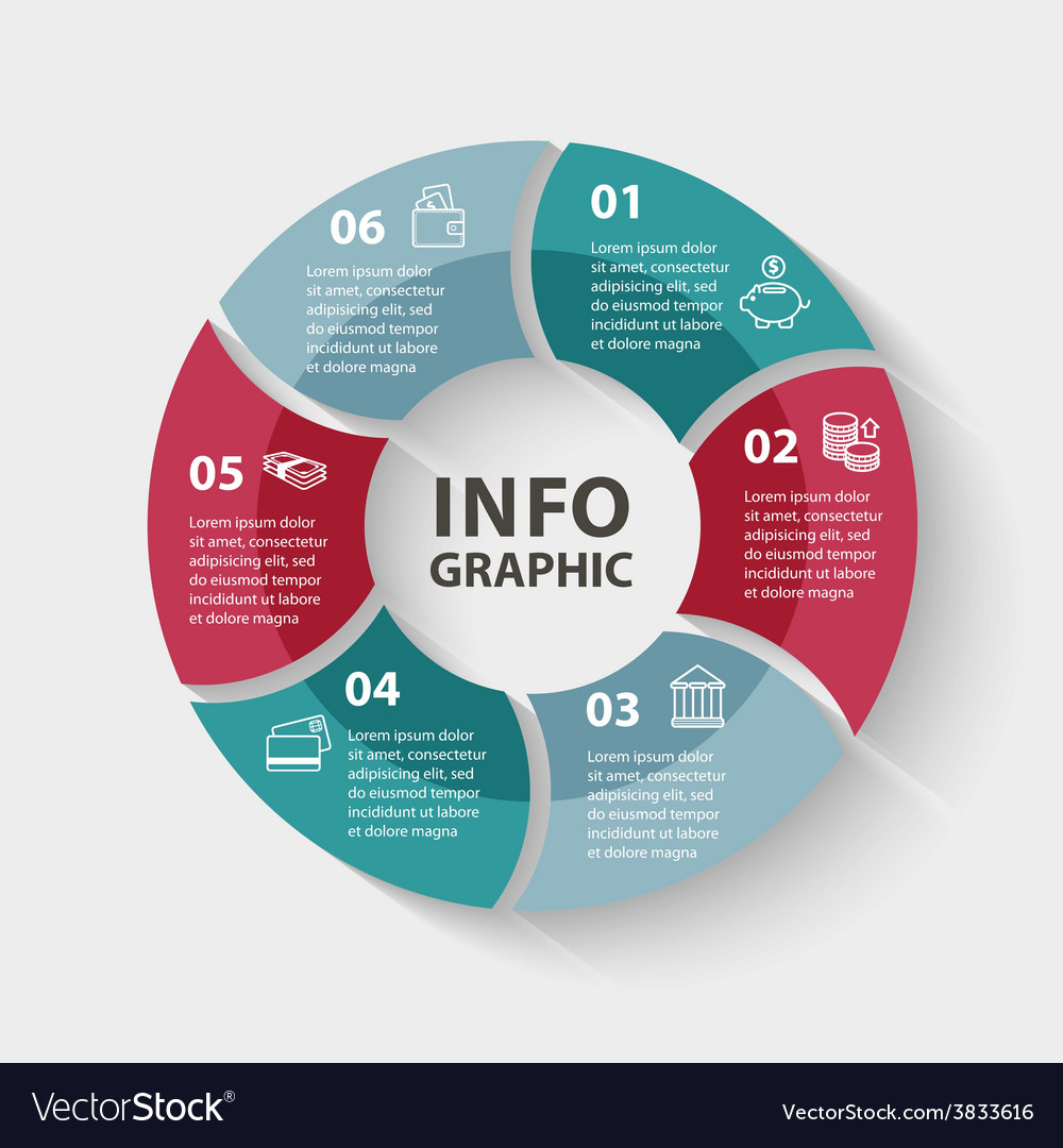 Circle infographics template for diagram vector | Price: 1 Credit (USD $1)