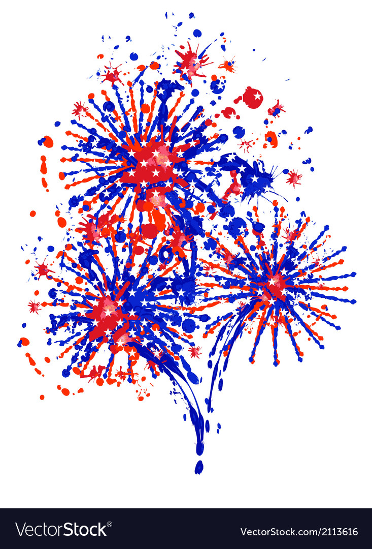 Firework independence day vector | Price: 1 Credit (USD $1)