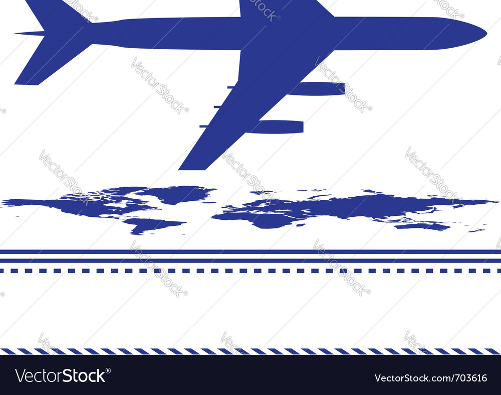 Map and airplane vector | Price: 1 Credit (USD $1)