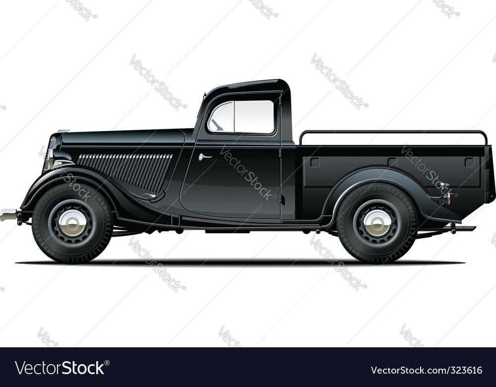 retro pickup vector | Price: 5 Credit (USD $5)