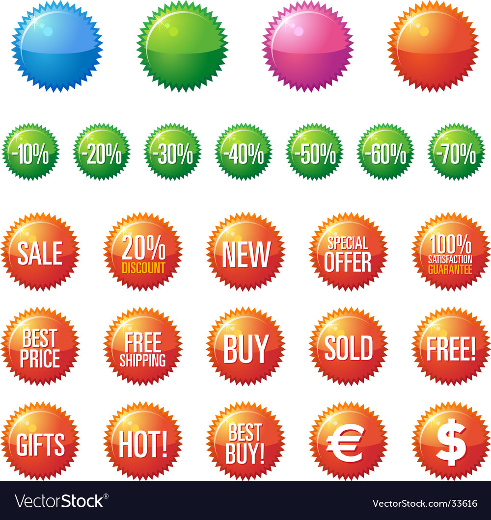 Sale buttons vector | Price: 1 Credit (USD $1)