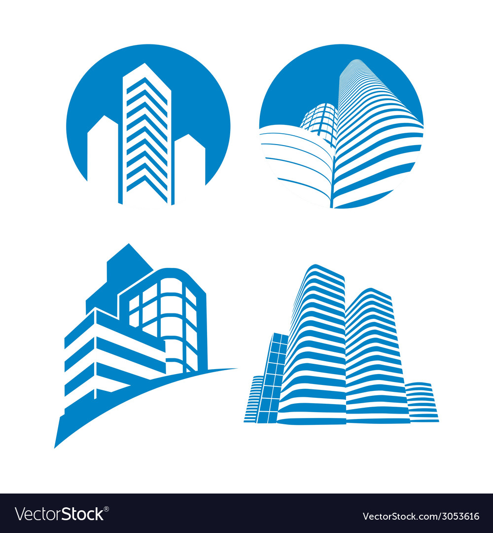 Skyscrapers sign vector | Price: 1 Credit (USD $1)