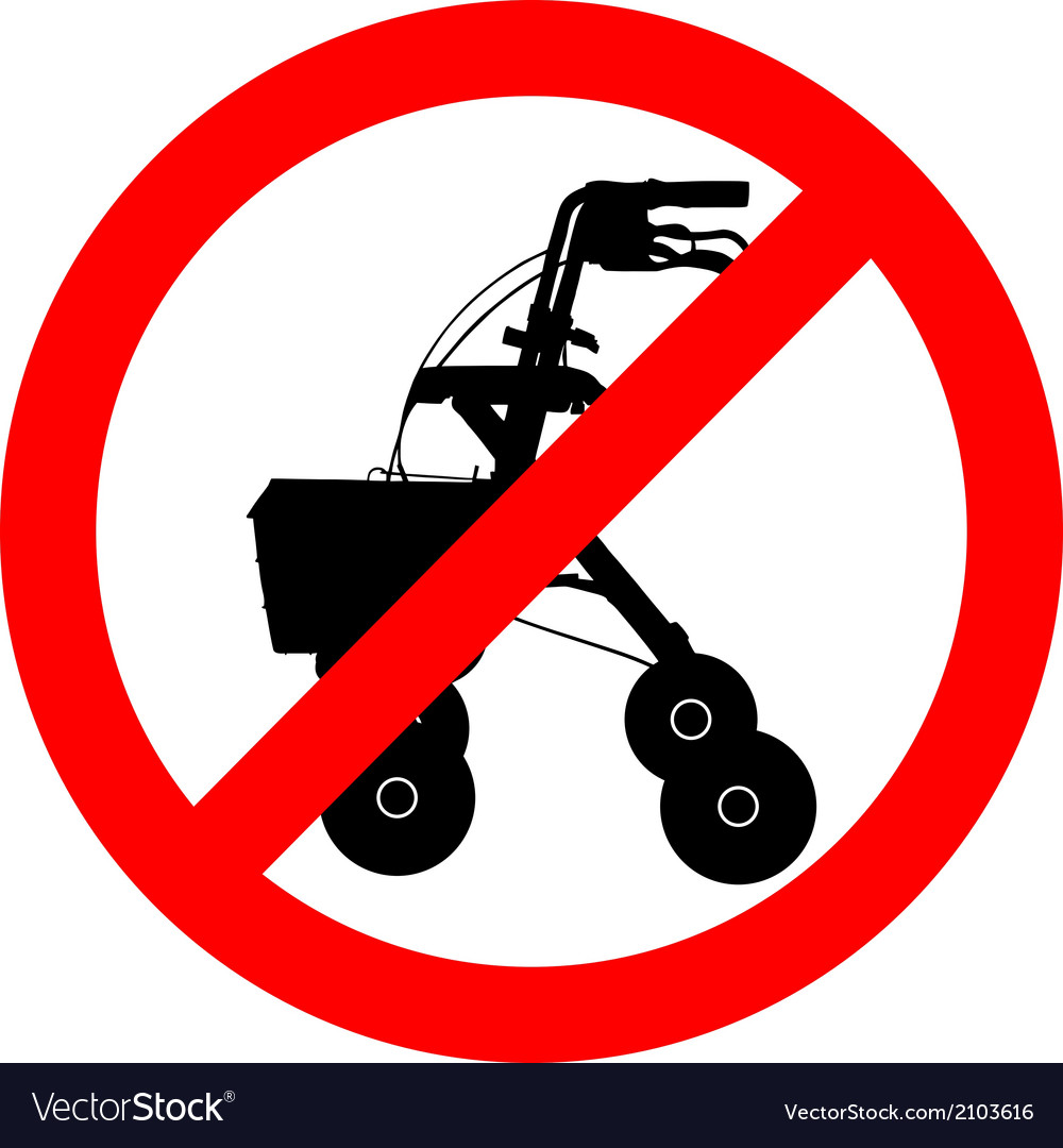 Walking frame prohibited vector | Price: 1 Credit (USD $1)