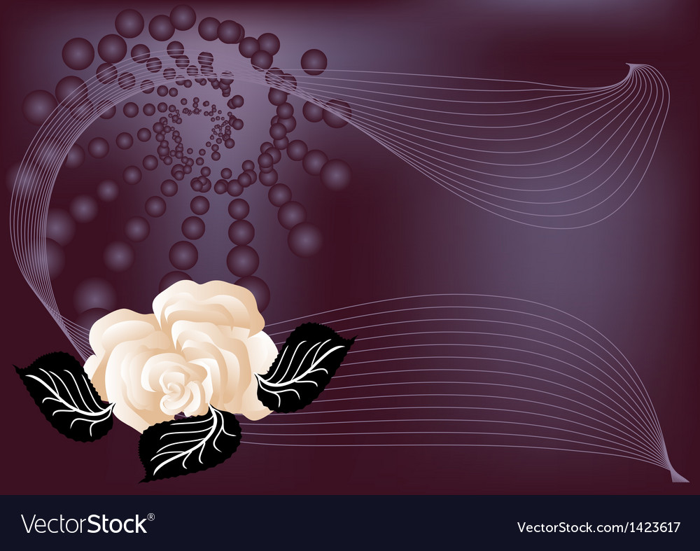 Abstract background with rose vector | Price: 1 Credit (USD $1)