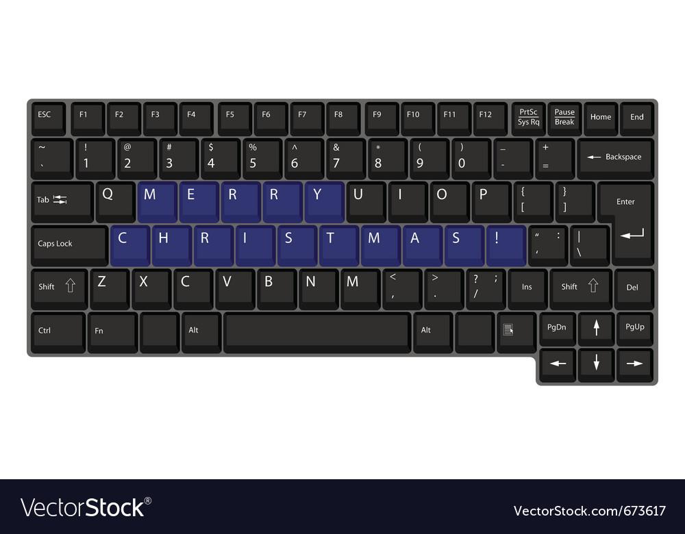 Black laptop keyboard vector | Price: 1 Credit (USD $1)
