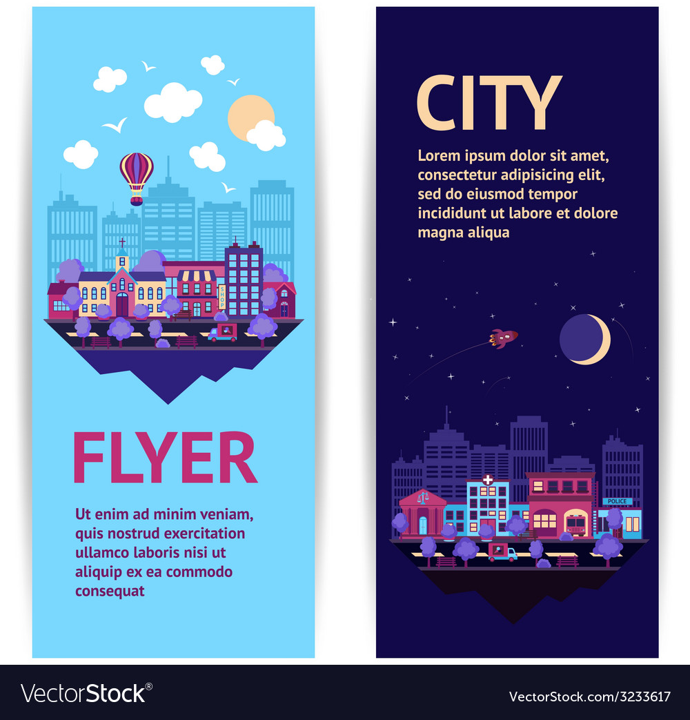 City banner vertical vector | Price: 1 Credit (USD $1)