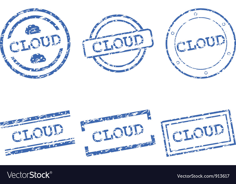 Cloud stamp vector | Price: 1 Credit (USD $1)