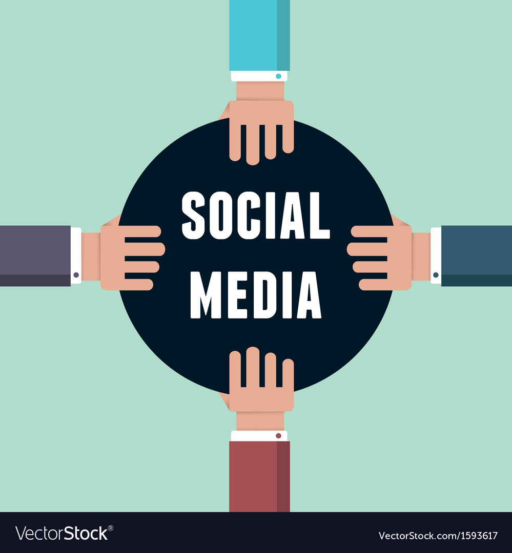 Concept of social media with hands vector | Price: 1 Credit (USD $1)