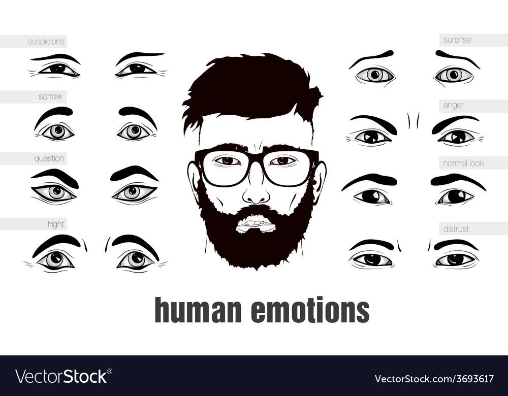 Description of human emotions eyes vector   Price: 1 Credit (USD $1)
