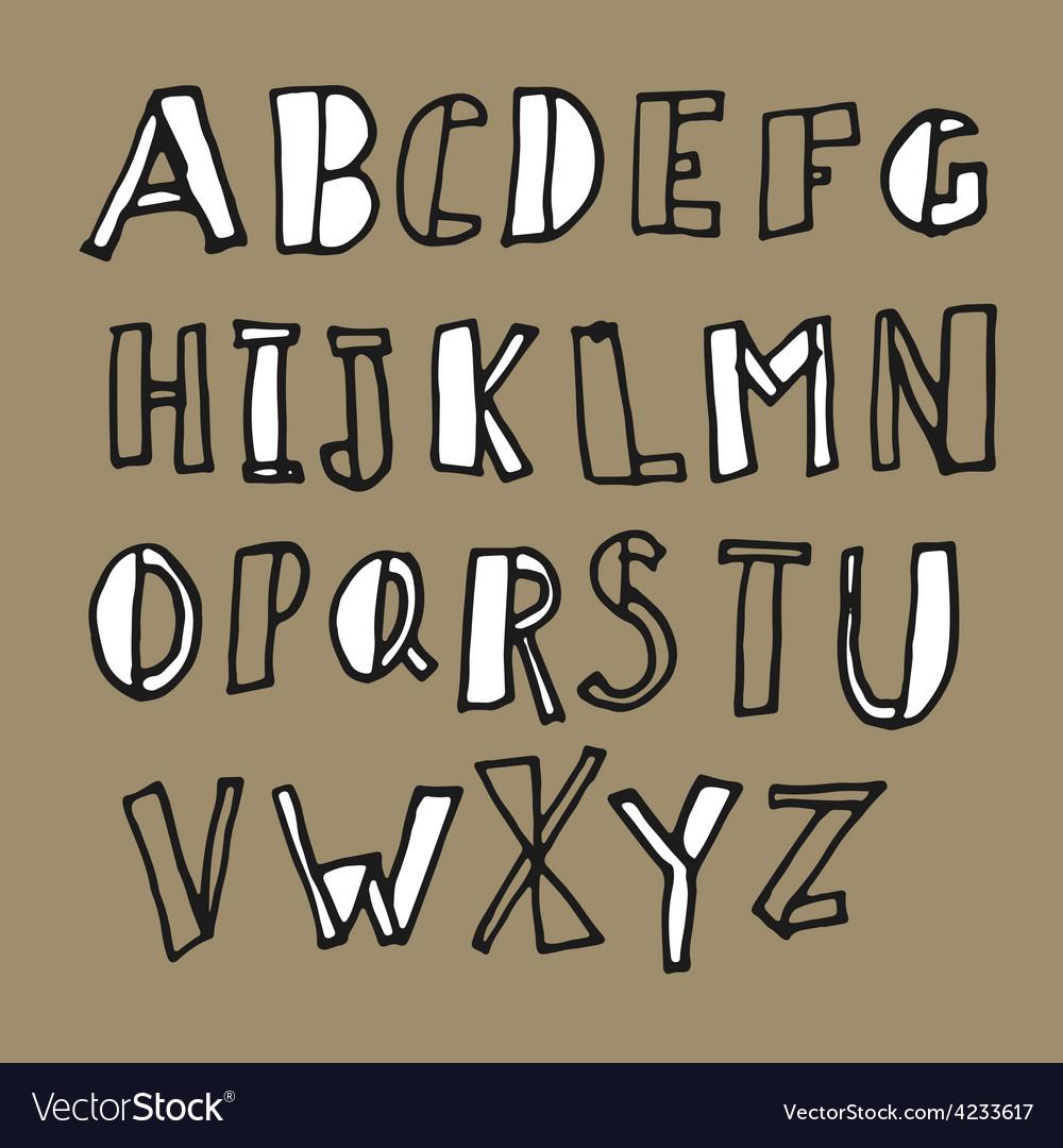 Hand drawn doodles alphabet vector   Price: 1 Credit (USD $1)