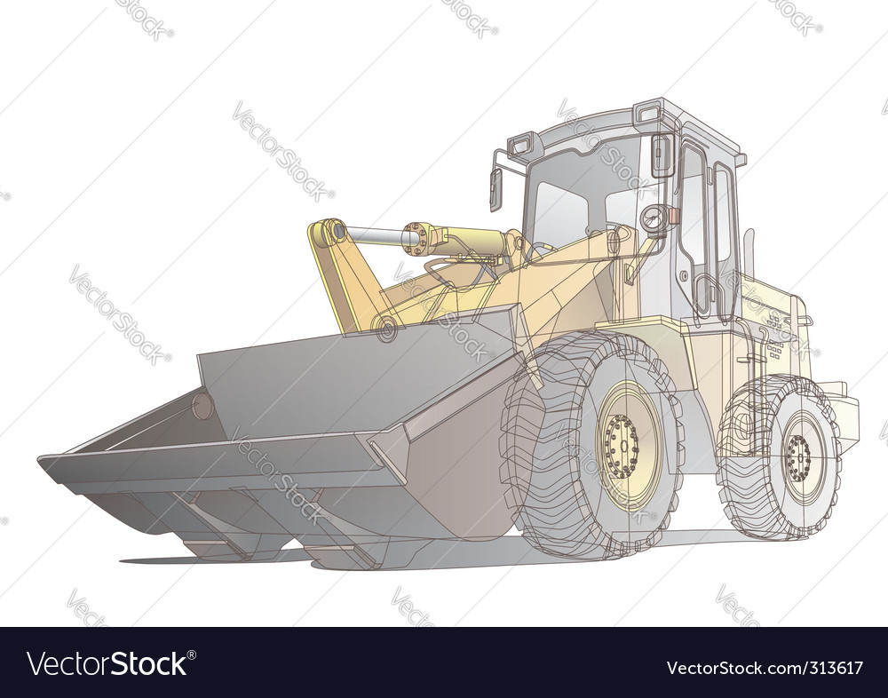 Loader / digger illustration vector | Price: 3 Credit (USD $3)