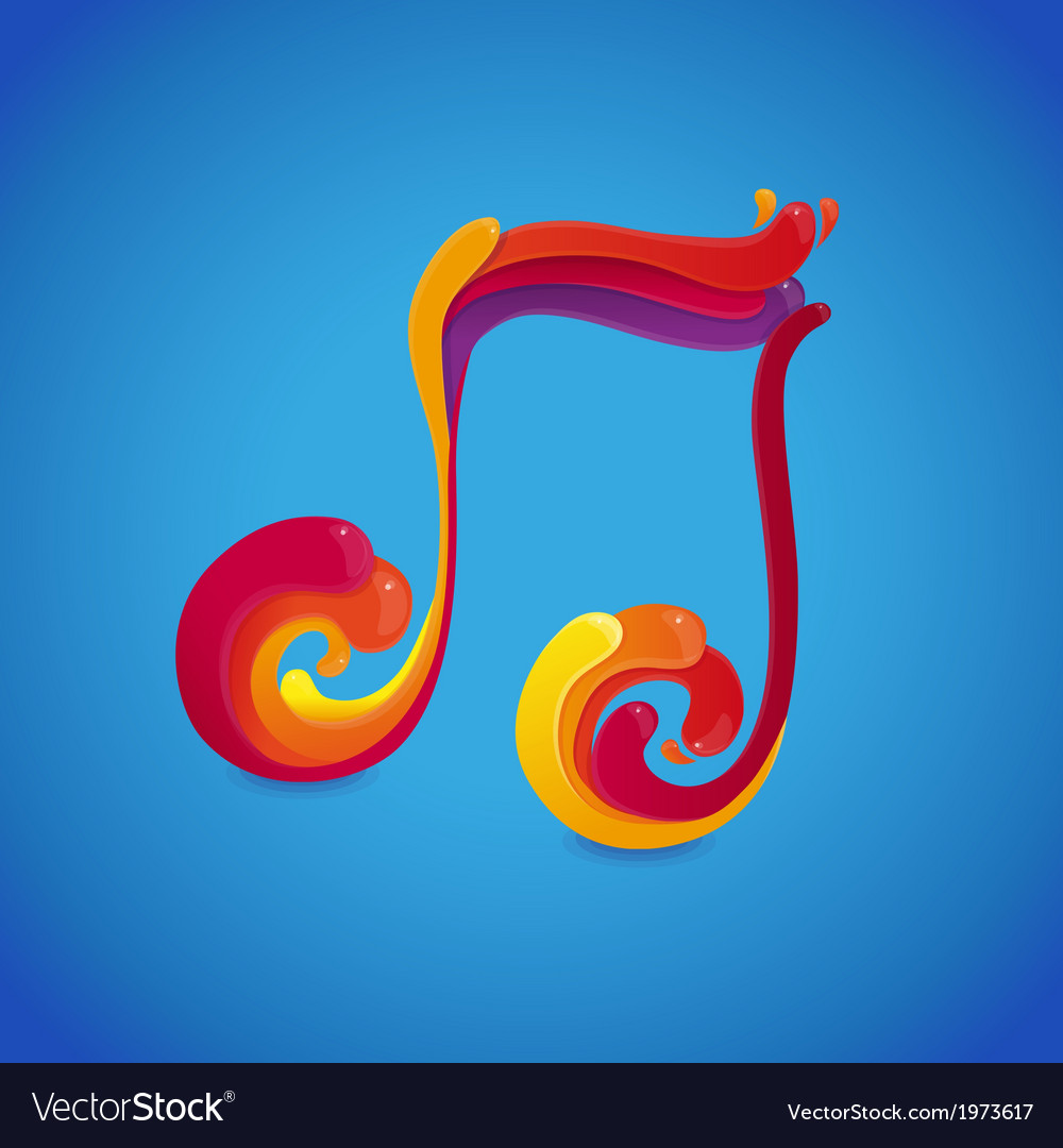 Music rainbow vector | Price: 1 Credit (USD $1)