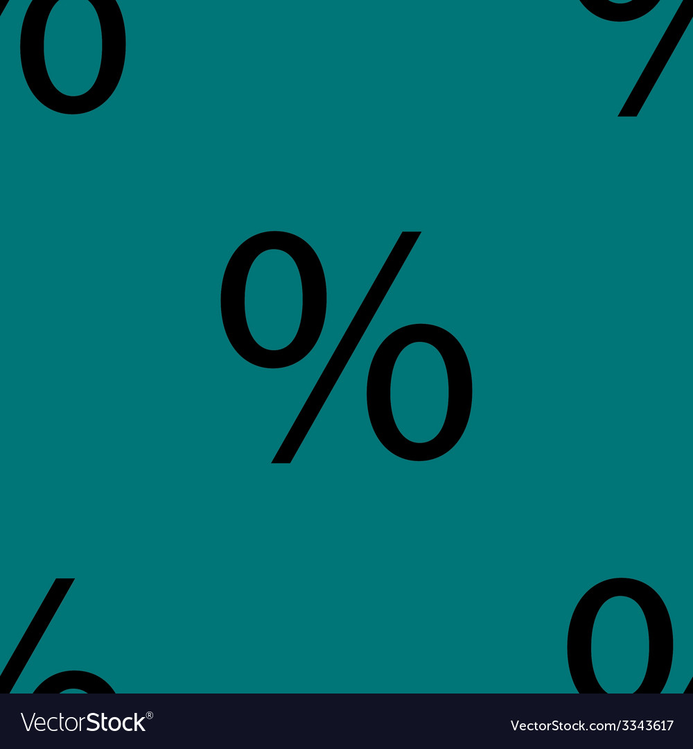 Percent discount flat design seamless gray pattern vector   Price: 1 Credit (USD $1)