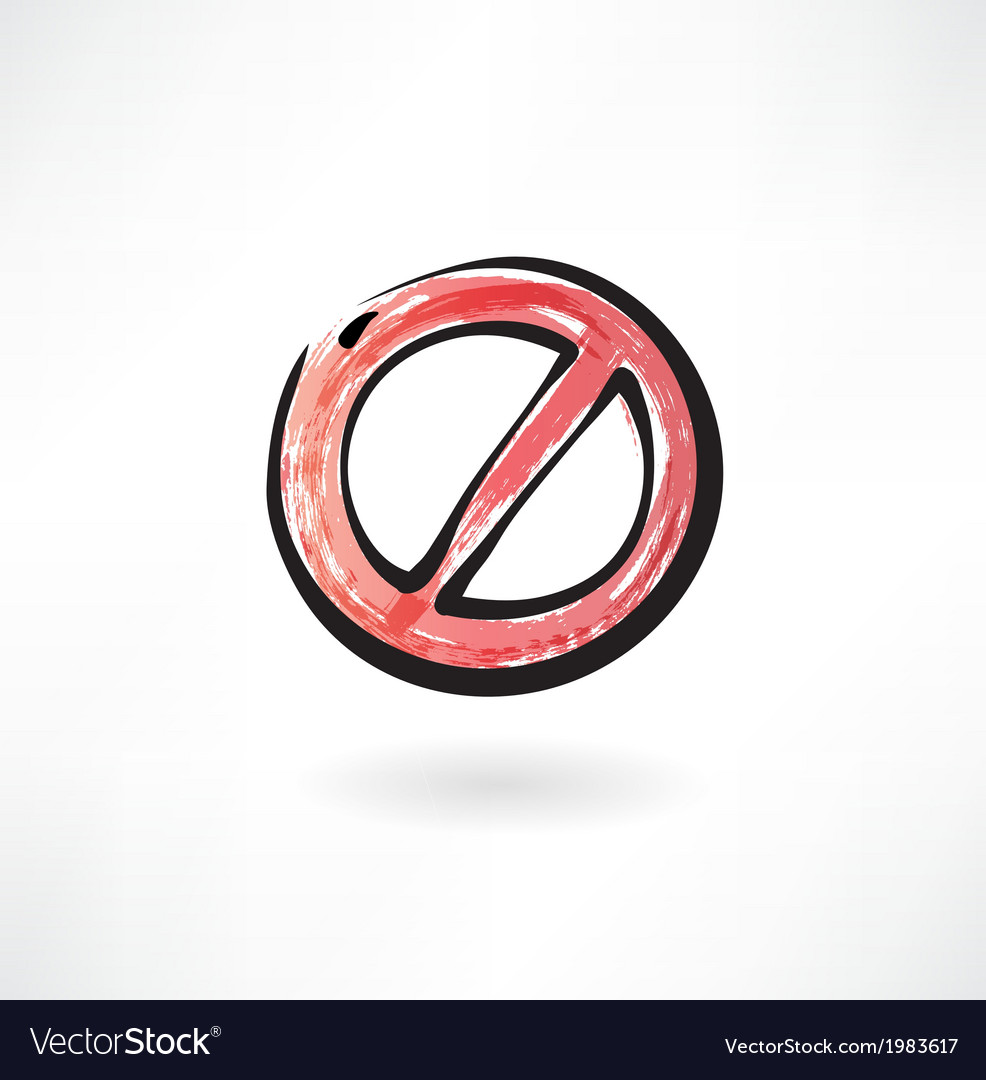 Red ban grunge icon vector   Price: 1 Credit (USD $1)