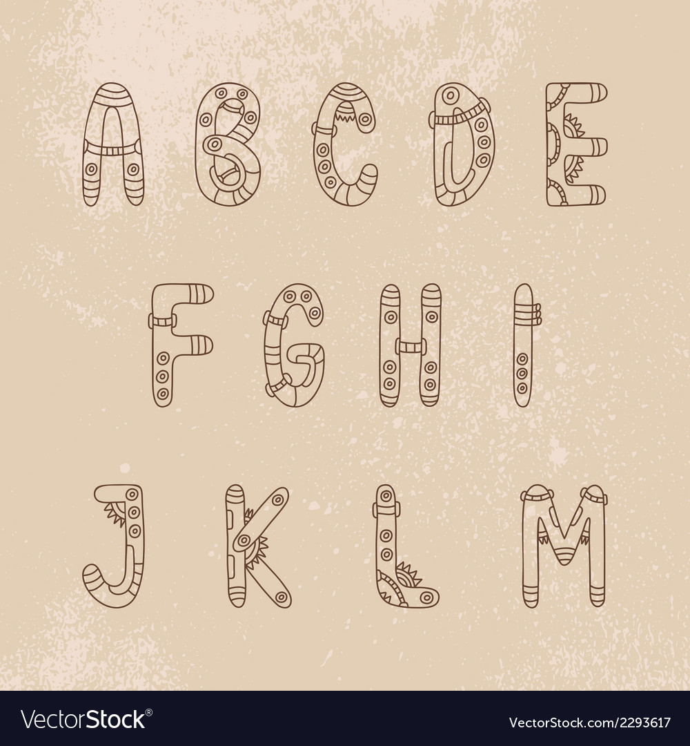 Steampunk font a-m vector   Price: 1 Credit (USD $1)