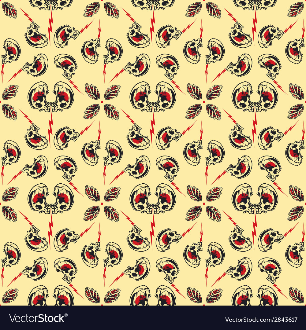 Tattoo seamless pattern vector | Price: 1 Credit (USD $1)