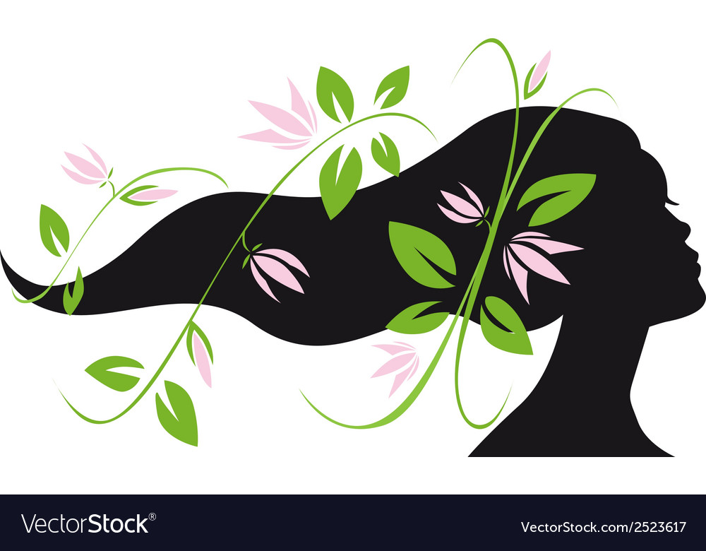Woman silhouette profile vector | Price: 1 Credit (USD $1)