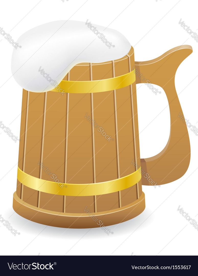 Wooden beer mug 02 vector | Price: 1 Credit (USD $1)