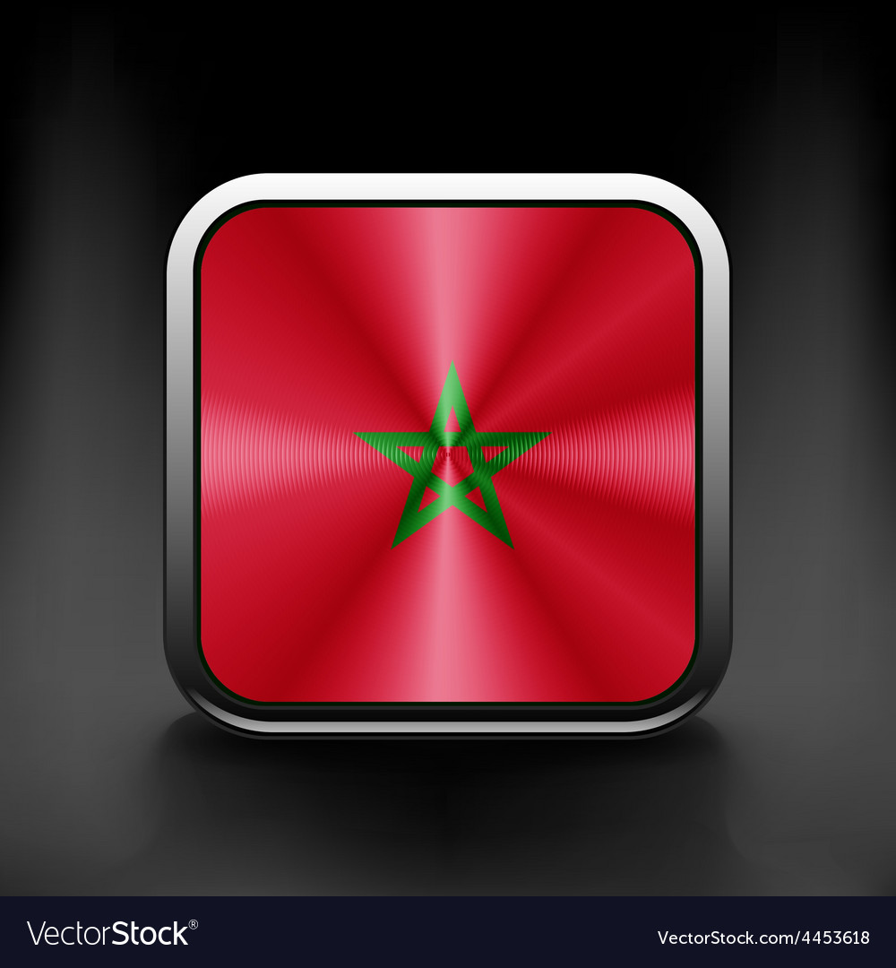 - morocco flag glossy button vector | Price: 1 Credit (USD $1)