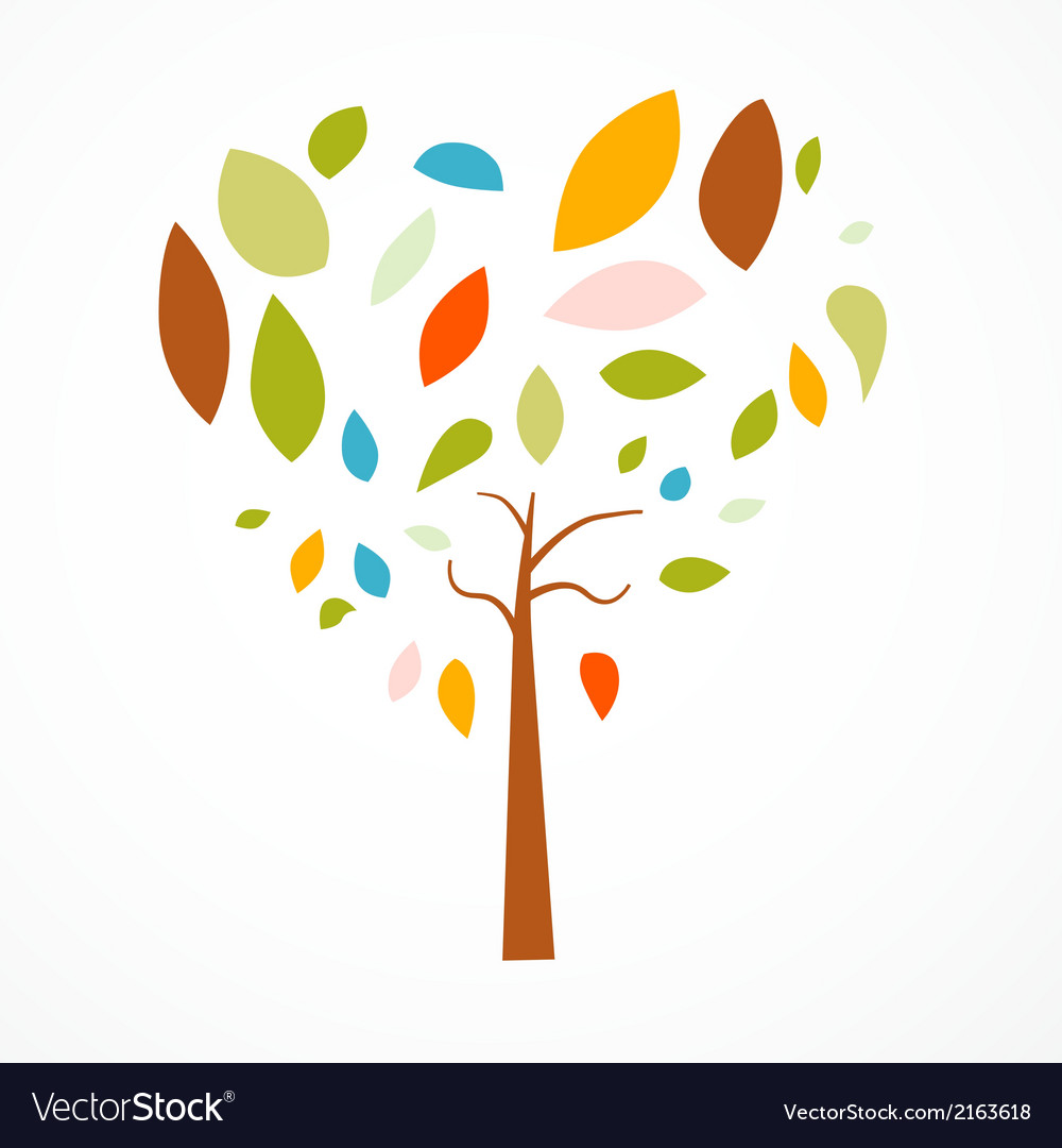 Abstract heart shaped tree on white background vector   Price: 1 Credit (USD $1)