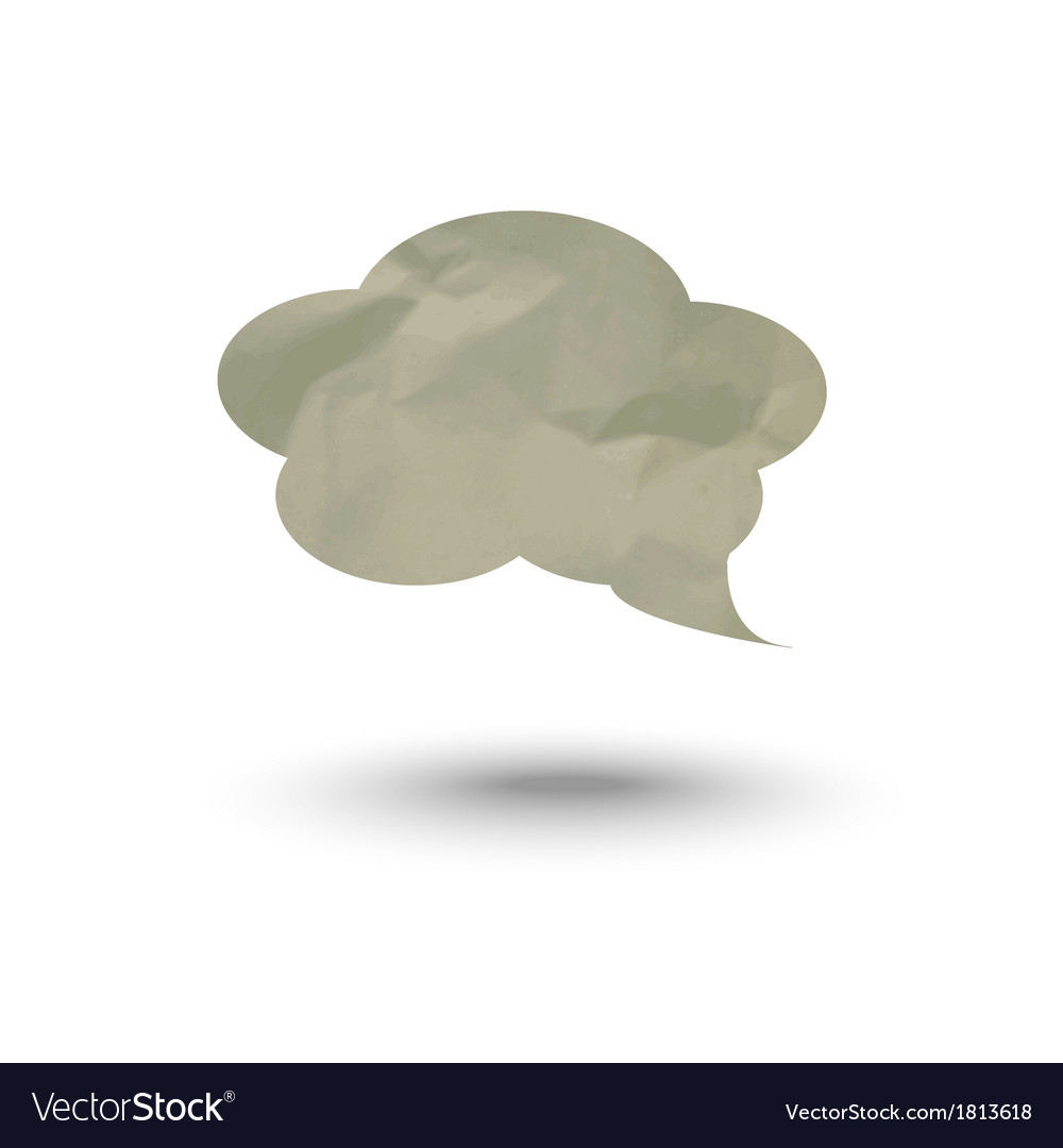 Cloud for thoughts and inscriptions vector | Price: 1 Credit (USD $1)