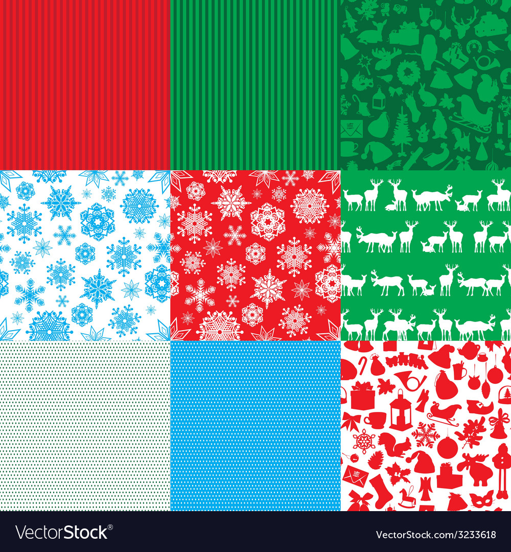 Different set of christmas backgrounds vector | Price: 1 Credit (USD $1)