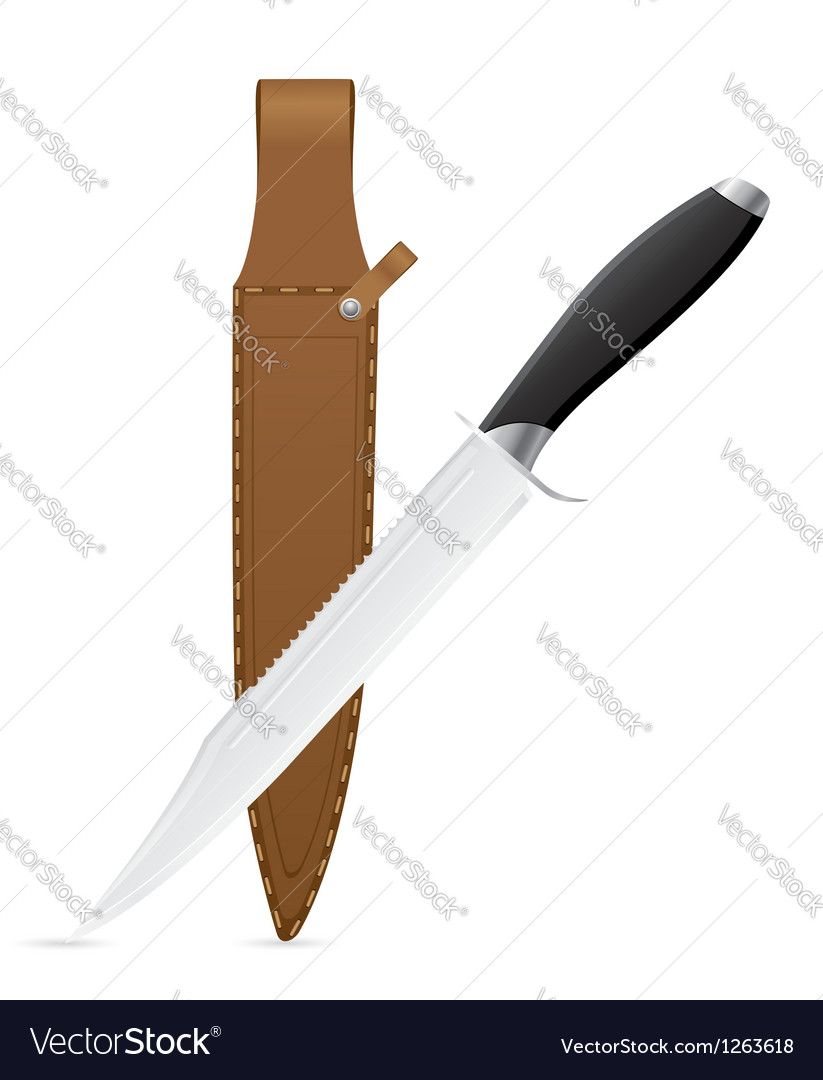 Hunting knife vector | Price: 1 Credit (USD $1)