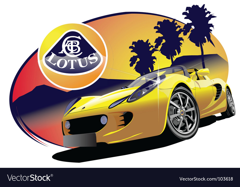 Lotus sports car vector | Price: 3 Credit (USD $3)
