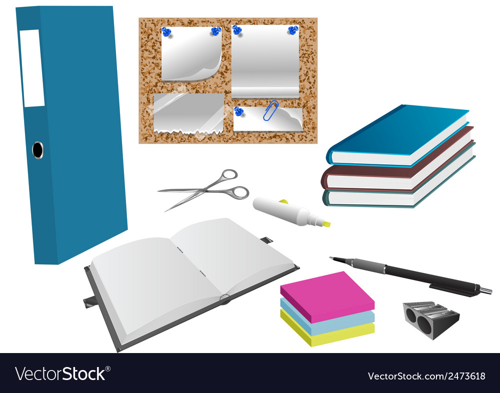 Office object vector | Price: 1 Credit (USD $1)