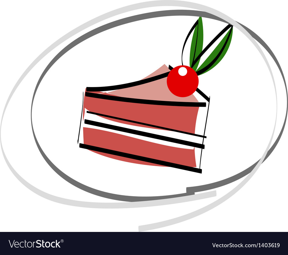 A piece of cake vector | Price: 1 Credit (USD $1)