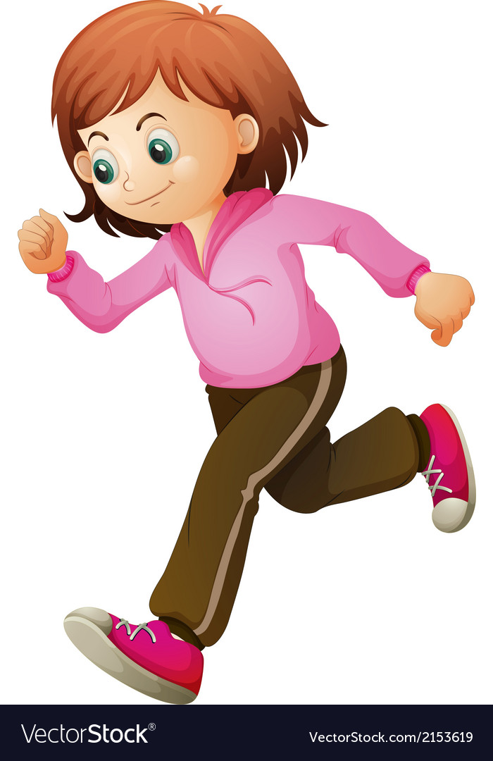 A young child jogging vector | Price: 1 Credit (USD $1)