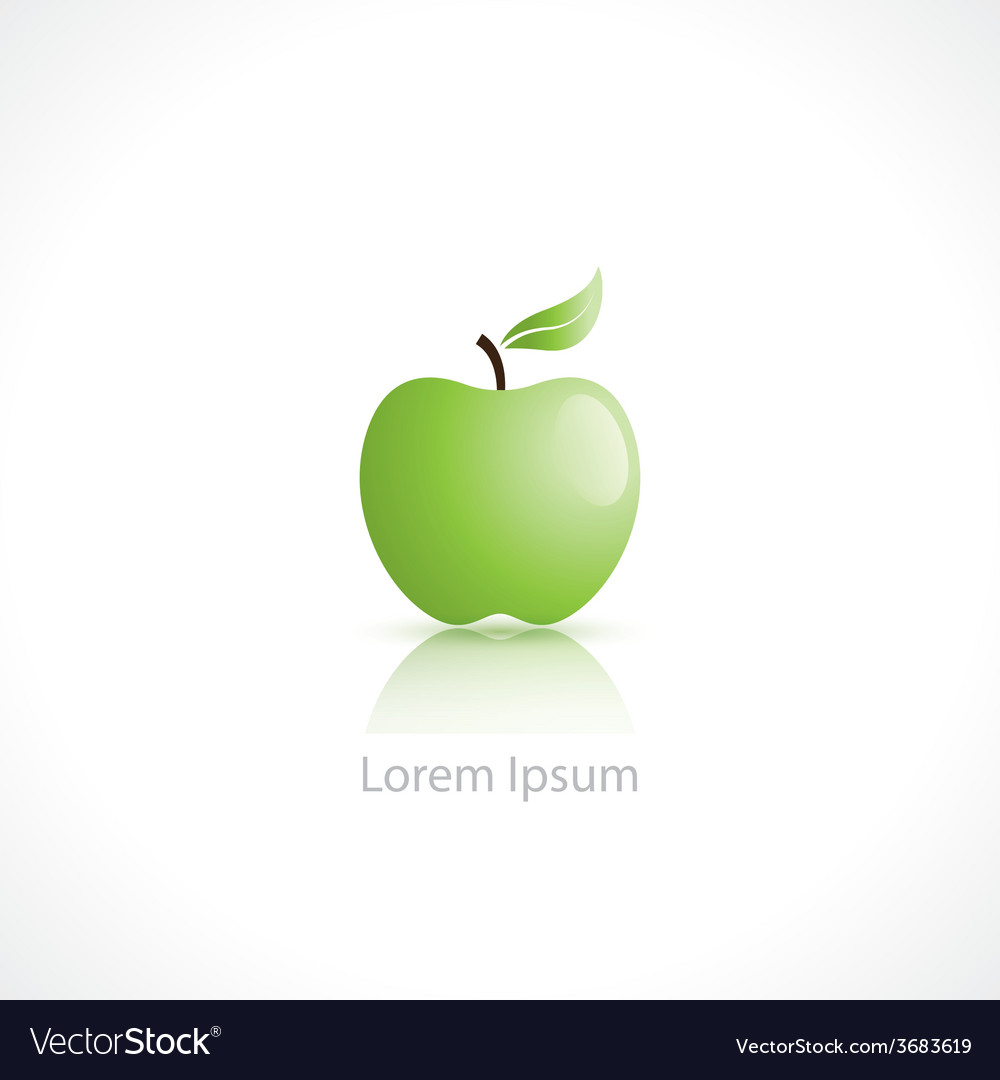 Apple symbol vector | Price: 1 Credit (USD $1)