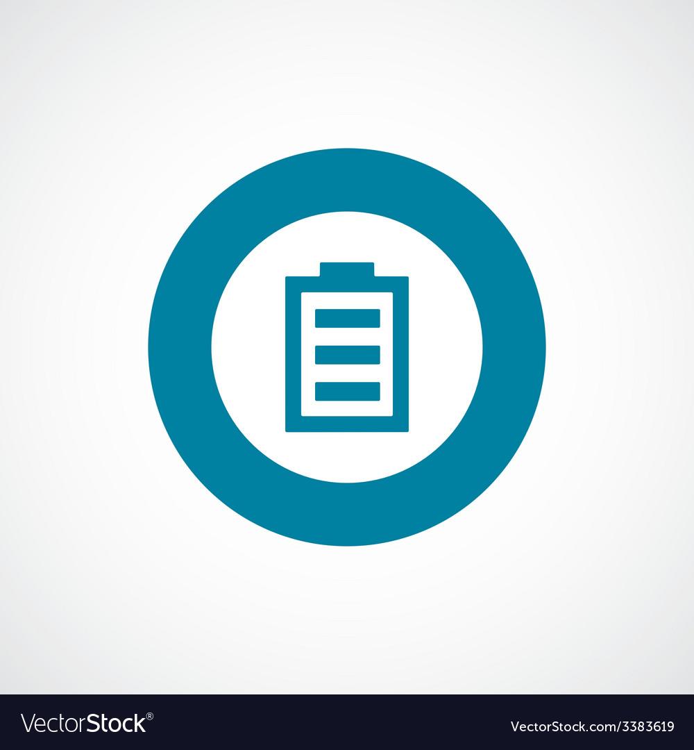Battery bold blue border circle icon vector | Price: 1 Credit (USD $1)