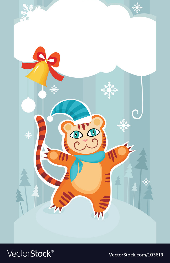 Christmas cat vector | Price: 1 Credit (USD $1)