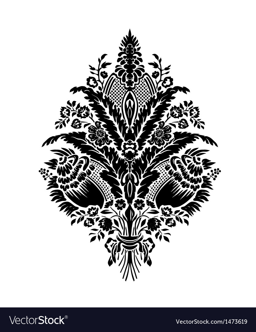 Classic damask floral patterne vector | Price: 1 Credit (USD $1)