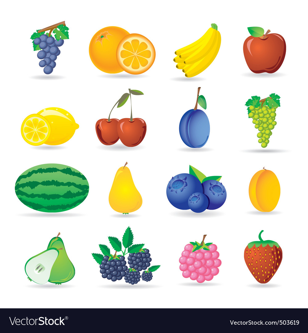 Fruit icons vector | Price: 3 Credit (USD $3)