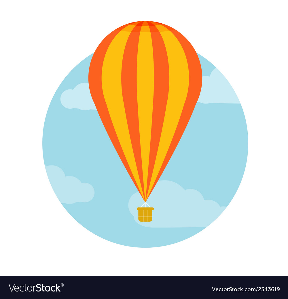 Hot air balloon flying vector | Price: 1 Credit (USD $1)