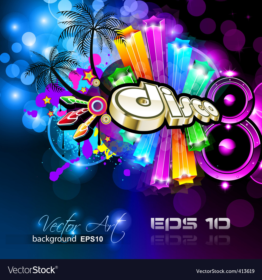 Magical discotheque vector | Price: 3 Credit (USD $3)