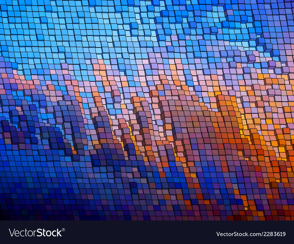 Mosaic background eps 8 vector | Price: 1 Credit (USD $1)