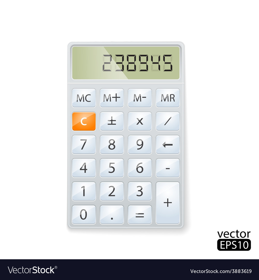 Realistic electronic calculator vector | Price: 1 Credit (USD $1)