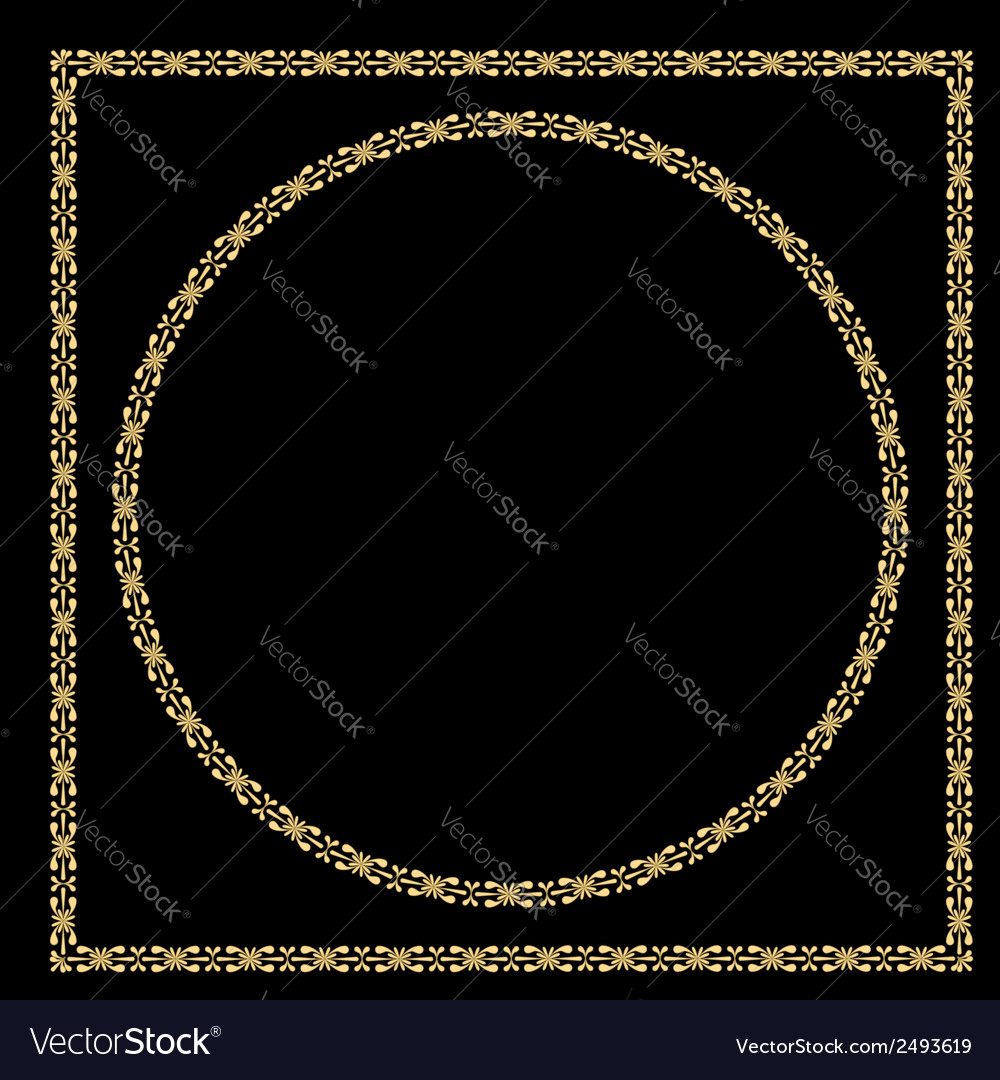 Set of vintage decorative frames vector | Price: 1 Credit (USD $1)